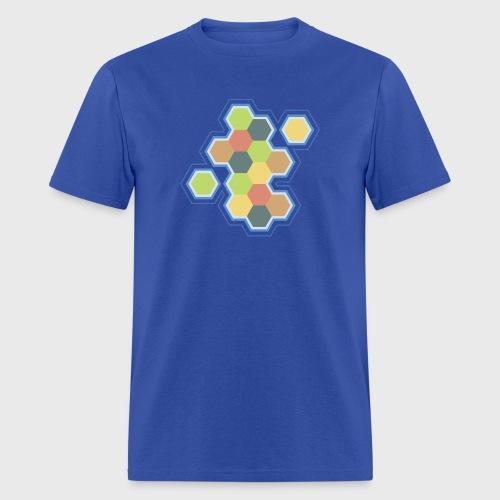 settlers of catan, settlers, catan, boardgames, board games, hexagon, tabletop, rpg, gamer, gaming  - Men's T-Shirt