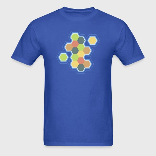 settlers of catan, settlers, catan, boardgames, board games, hexagon, tabletop, rpg, gamer, gaming  - Men's T-Shirt