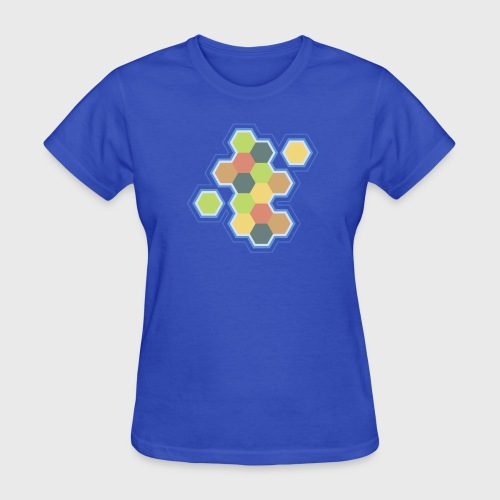 settlers of catan, settlers, catan, boardgames, board games, hexagon, tabletop, rpg, gamer, gaming  - Women's T-Shirt