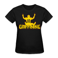 T-Shirts ~ Women's T-Shirt ~ Griffining Shirt on Black Womens
