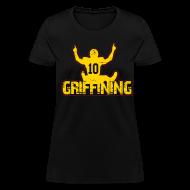 Women's T-Shirts ~ Women's T-Shirt ~ Griffining Shirt on Black Womens