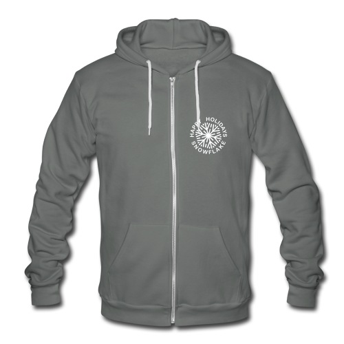 * Happy Holidays, Snowflake * (velveteen.print)  - Unisex Fleece Zip Hoodie