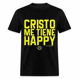 Cristo Me Tiene Happy - Men's T-Shirt