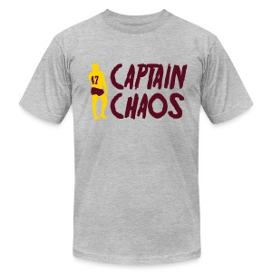 Captain Chaos Men's Tee - Grey - Men's T-Shirt by American Apparel