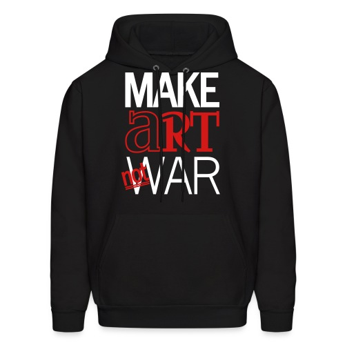 Make art not war - Men's Hoodie