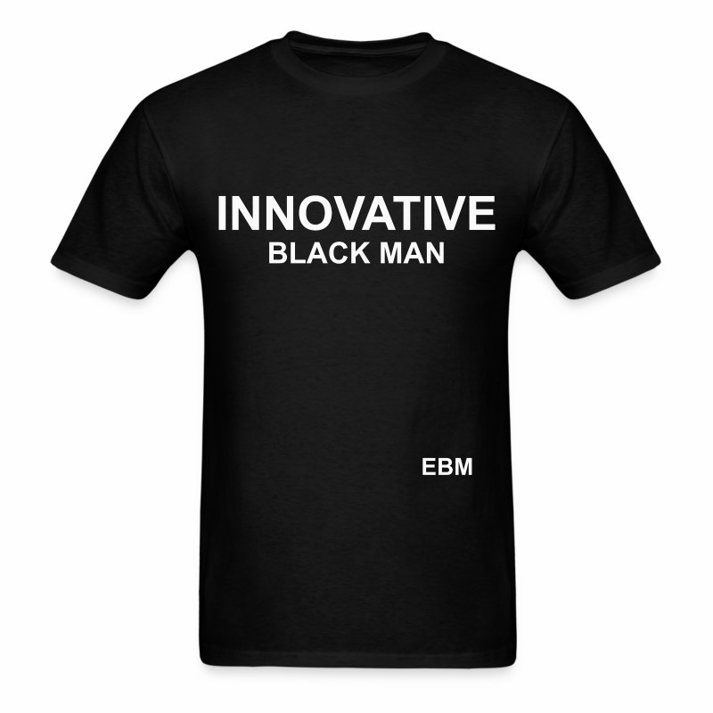 Stephanie Lahart Innovative Black Man T-shirt. - Men's T-Shirt
