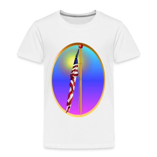 The Star Spangled Banner Oval - Toddler Premium T-Shirt