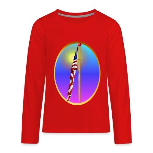The Star Spangled Banner Oval - Kids' Premium Long Sleeve T-Shirt