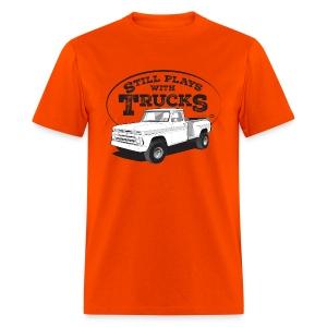 1964-66 C10 Longbed Stepside 4x4 Tee (Black graphic) - Men's T-Shirt