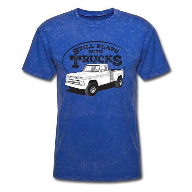 1964-66 C10 Longbed Stepside 4x4 Tee (Black graphic)