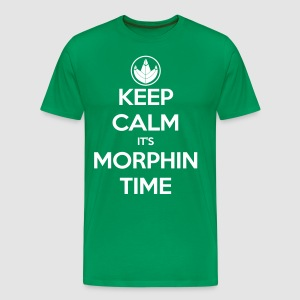 Keep Calm It's Morphin Time (Green) - Men's Premium T-Shirt