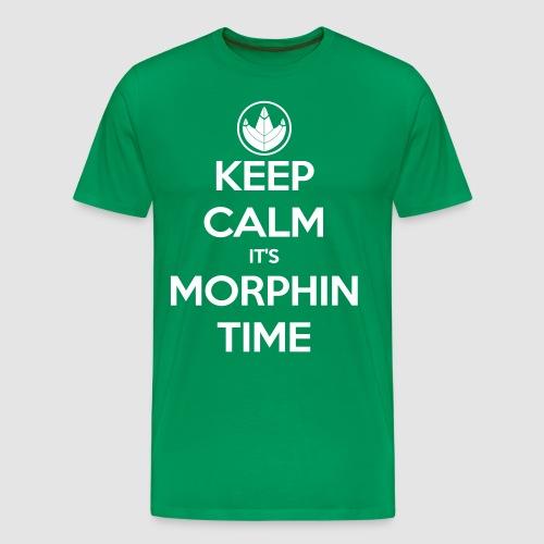 Keep Calm It's Morphin Time (Green) - Men's Premium T-Shirt