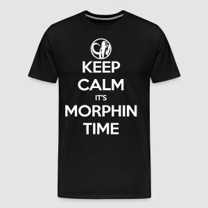 Keep Calm It's Morphin Time (Black) - Men's Premium T-Shirt