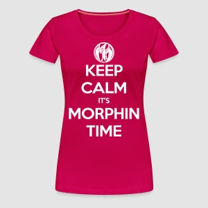 Keep Calm It's Morphin Time (Pink) - Women's Premium T-Shirt
