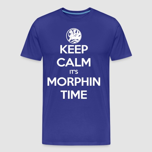 Keep Calm It's Morphin Time (Blue) - Men's Premium T-Shirt