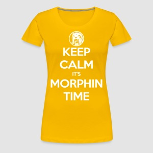 Keep Calm It's Morphin Time (Yellow) - Women's Premium T-Shirt