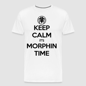 Keep Calm It's Morphin Time (White) - Men's Premium T-Shirt