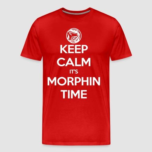 Keep Calm It's Morphin Time (Red) - Men's Premium T-Shirt