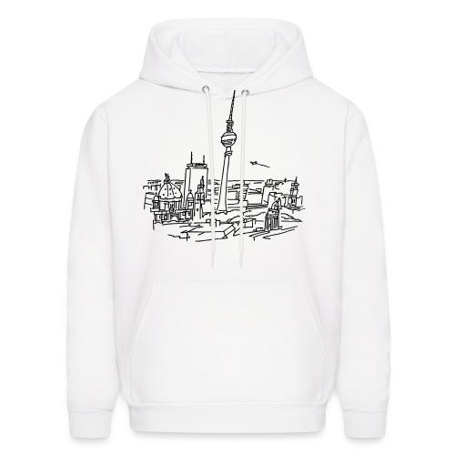 Panorama of Berlin  - Men's Hoodie