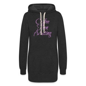 Coffee Then Adulting Hoodie Dress - Women's Hoodie Dress