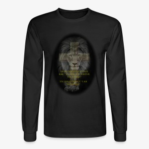 LION-YOU CAN'T SURVIVE THE STORM - Men's Long Sleeve T-Shirt