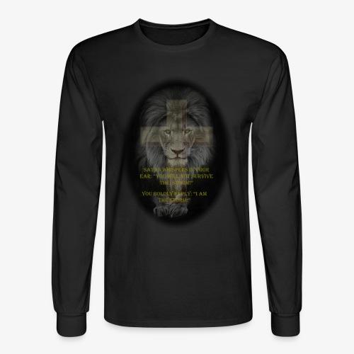 LION-YOU CAN'T SURVIVE THE STORM - Men's Long Sleeve T-Shirt