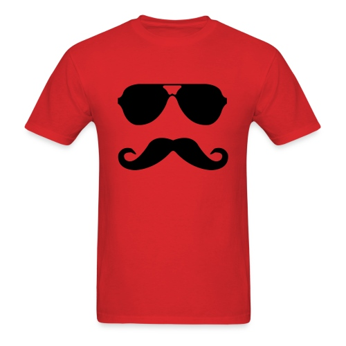 Mustache and Sunglasses - Men's T-Shirt