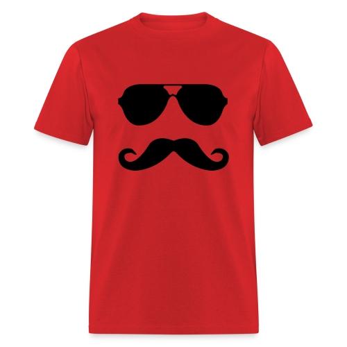 Mustache and Sunglasses - Men's T-Shirt