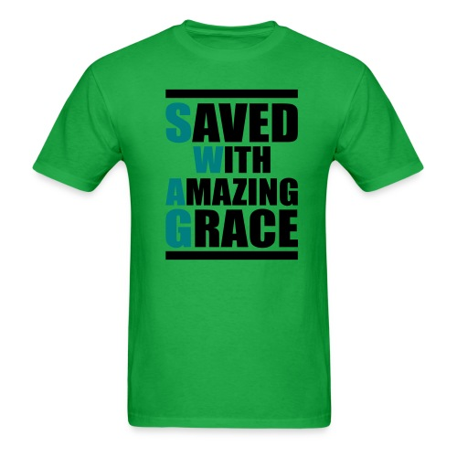 Saved With Amazing Grace - Men's T-Shirt