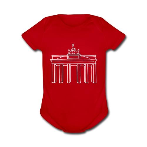 Brandenburg Gate in Berlin  - Organic Short Sleeve Baby Bodysuit