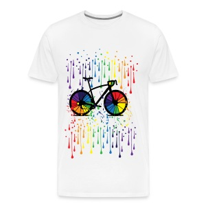 rainbow bicycle Men's Premium T-Shirt - Men's Premium T-Shirt