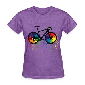 rainbow bicycle2  Women's T-Shirt - Women's T-Shirt