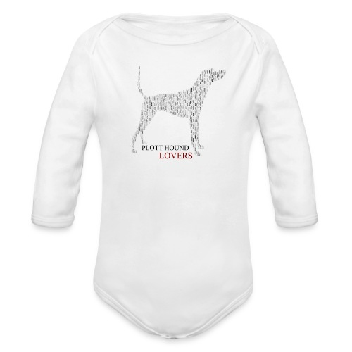 Plott Hound Lovers - Organic Long Sleeve Baby Bodysuit