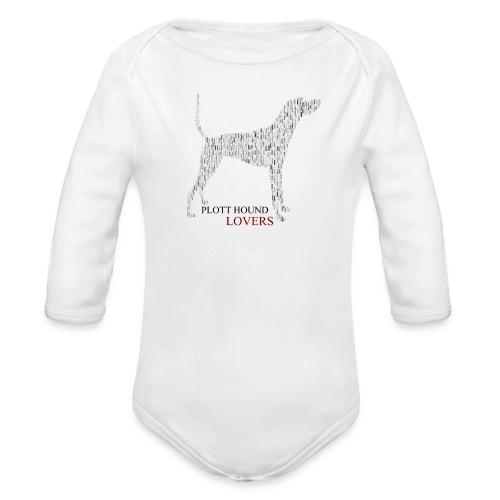 Plott Hound Lovers - Organic Long Sleeve Baby Bodysuit