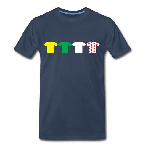 Jerseys of the Tour De France - Men's Premium T-Shirt