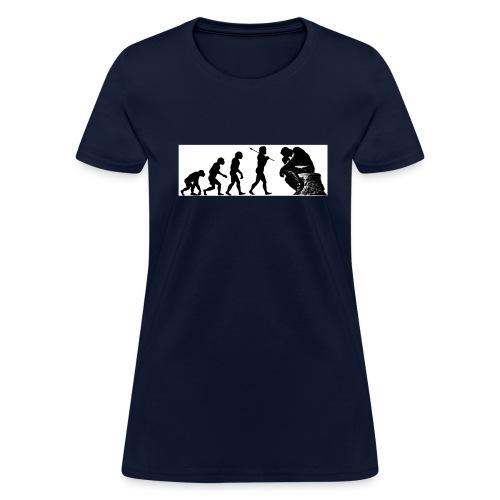 EvPhil Logo on Black - Women's T-Shirt