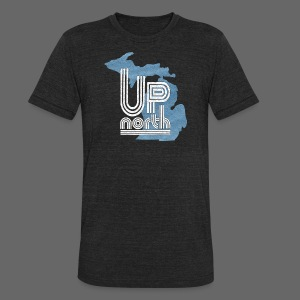 Retro Up North - Unisex Tri-Blend T-Shirt by American Apparel
