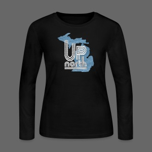 Retro Up North - Women's Long Sleeve Jersey T-Shirt