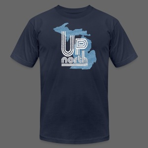 Retro Up North - Men's T-Shirt by American Apparel
