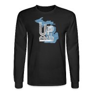 Long Sleeve Shirts ~ Men's Long Sleeve T-Shirt ~ Retro Up North