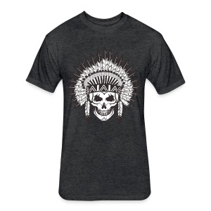 Live Till Death Chief Of Dead TEEE - Fitted Cotton/Poly T-Shirt by Next Level