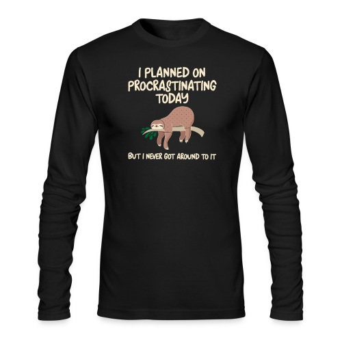 ProcrastSlothMLSTShirtbyNextLevel - Men's Long Sleeve T-Shirt by Next Level