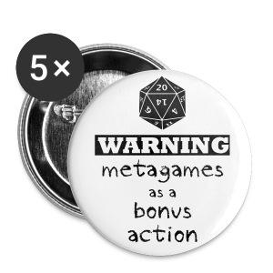 Warning Meta-Gaming Button - Large Buttons