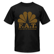 T-Shirts ~ Men's T-Shirt by American Apparel ~ FAT- GOLD t-shirt black