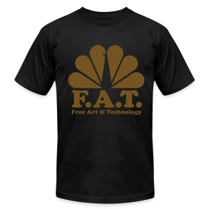 FAT- GOLD t-shirt black - Men's T-Shirt by American Apparel