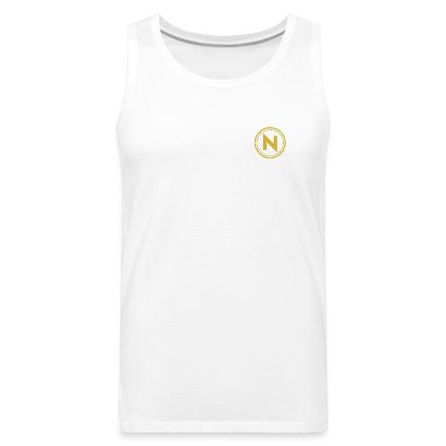 N Patch Tank (White) - Men's Premium Tank
