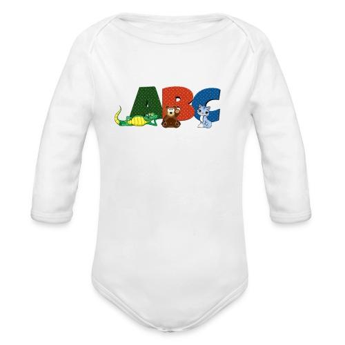ABC Animals - Organic Long Sleeve Baby Bodysuit