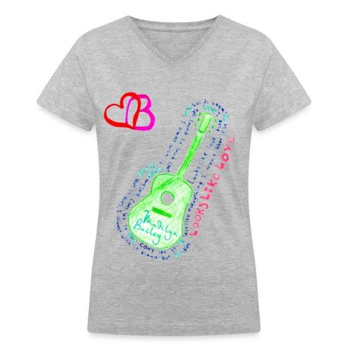 LOOKS LIKE LOVE - Women's V-Neck T-Shirt