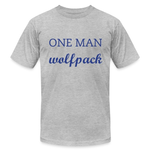 One Man Wolfpack - Men's Fine Jersey T-Shirt