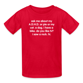 Kids create your own ask me about my adhd t shirt adhd t for I want to make my own shirts